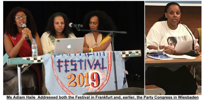 Young EPDP CC Member Adiam  Addresses Main Festival Panel