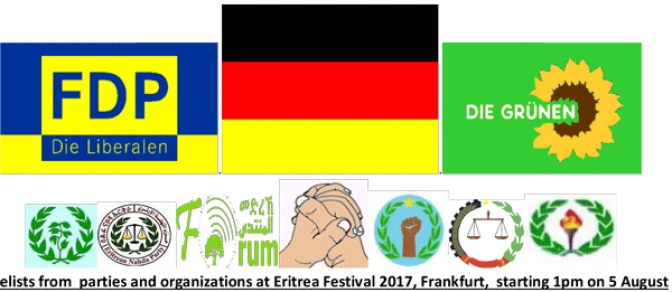 Eritrean and German Political Leaders Are on Their Way to Eritrea Festival 2017 in Frankfurt